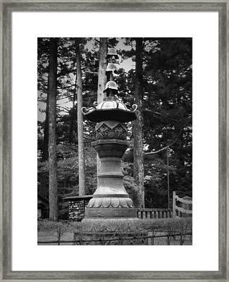 Nikko Sculpture Framed Print by Naxart Studio