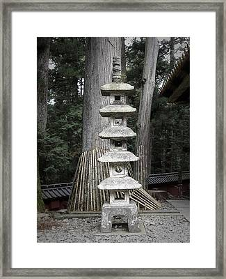 Nikko Temple Sculptures Framed Print by Naxart Studio