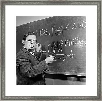 Nikolai Bogolyubov, Soviet Physicist Framed Print by Ria Novosti