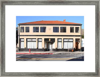 Niles California Banquet Hall . 7d12736 Framed Print by Wingsdomain Art and Photography