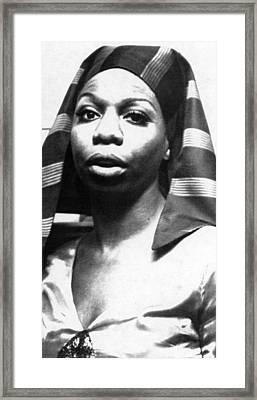 Nina Simone, 1978 Framed Print by Everett