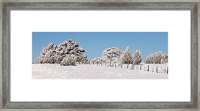 Nine Below Framed Print by Bob and Nancy Kendrick