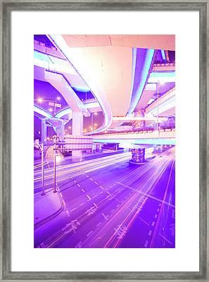 Nine Dragon Pillar Intersection Framed Print by Arnd Dewald