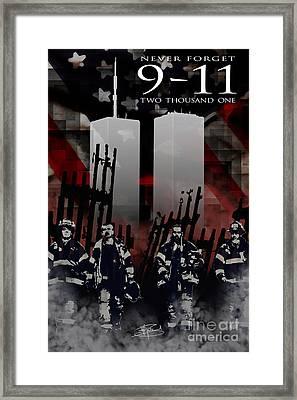 Nine Eleven Memorial 2011 Framed Print