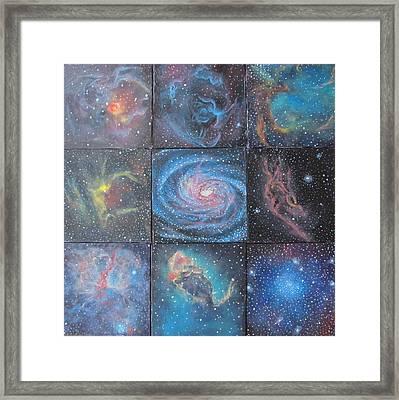 Nine Nebulae Framed Print by Alizey Khan