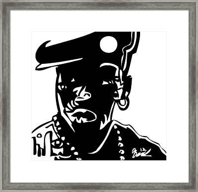 Nino Brown Framed Print by Kamoni Khem