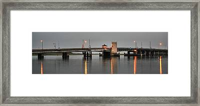 Ninth Street Bridge Ocean City Nj Framed Print