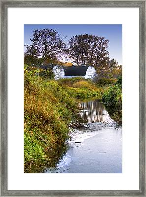 Nisqually Wildlife Refuge P21 The Twin Barns Framed Print by David Patterson