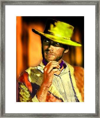 Nixo Clint Eastwood Framed Print