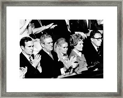 Nixon Family And Administration Listen Framed Print by Everett