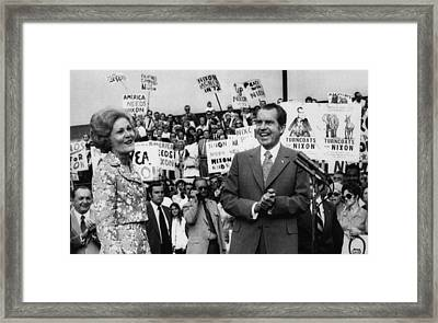 Nixon Presidency.  First Lady Patricia Framed Print by Everett