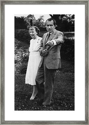 Nixon Presidency.  Former First Lady Framed Print