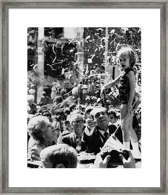 Nixon Presidency. From Left First Lady Framed Print by Everett