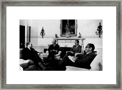 Nixon Presidency.  From Left  Gerard Framed Print by Everett