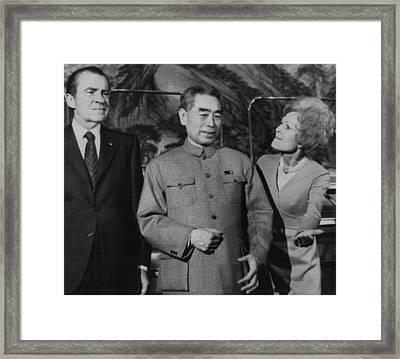 Nixon Presidency.  From Left  Us Framed Print by Everett