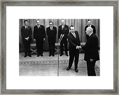 Nixon Presidency. From Left White House Framed Print by Everett