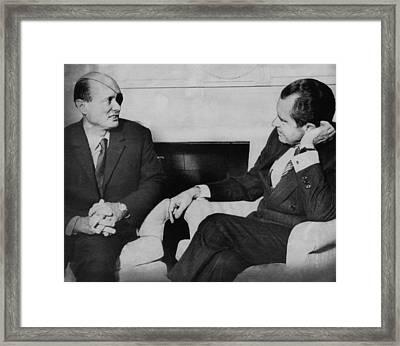 Nixon Presidency.  Israeli Foreign Framed Print