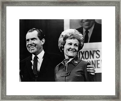 Nixon Presidency. Us President-elect Framed Print by Everett