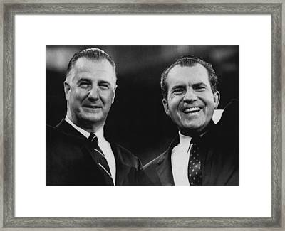 Nixon Presidency.  Vice President Spiro Framed Print by Everett