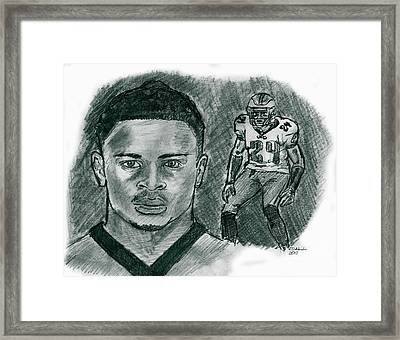 Nnamdi Asomugha Framed Print by Chris  DelVecchio