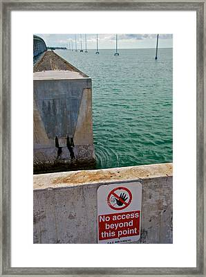 No Access Framed Print by Mike Horvath