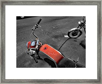 No Brakes Framed Print by Bennie Reynolds