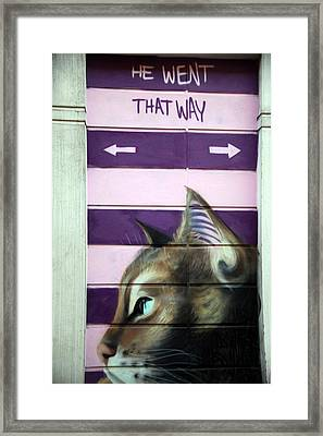 No Dogs Framed Print by Jez C Self