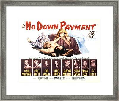 No Down Payment, Joanne Woodward Framed Print
