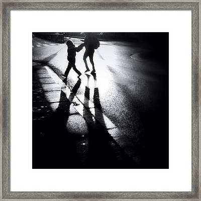 No Jay Walking. #people #shadow Framed Print