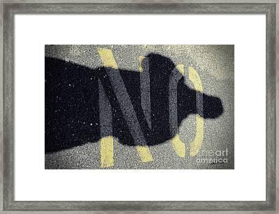 NO Framed Print by Luke Moore