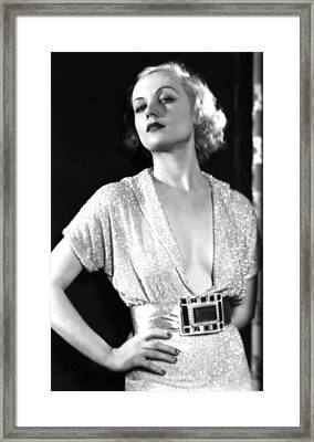 No Man Of Her Own, Carole Lombard, 1932 Framed Print by Everett
