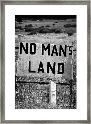 no mans land and restricted area of the UN buffer zone green line dividing north and south cyrus Framed Print by Joe Fox
