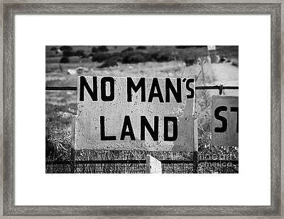no mans land and restricted area of the UN buffer zone in the green line dividing cyprus famagusta Framed Print by Joe Fox
