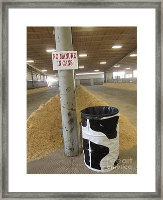 No Mature In Can Framed Print