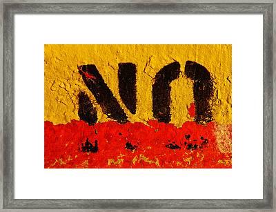 No Means No Framed Print