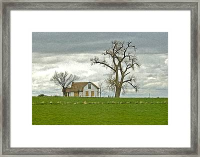 No One Is Home. Framed Print