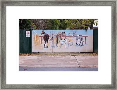 No Parking Framed Print by Viktor Savchenko