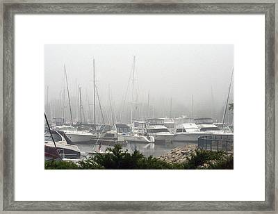 Framed Print featuring the photograph No Sailing Today by Kay Novy