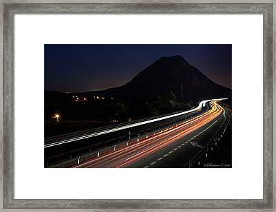 No Speed Limits Framed Print by Christian Callejas