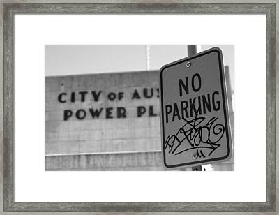 No Tagging Framed Print by Chris Larson