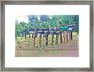 No Texting Zone Framed Print by Stephen Warren