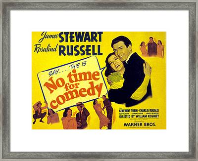 No Time For Comedy, Rosalind Russell Framed Print by Everett
