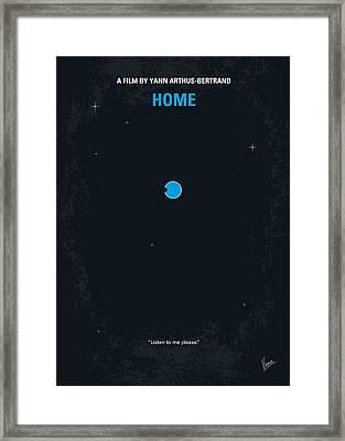 No037 My Home Minimal Movie Poster Framed Print