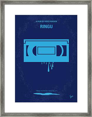 No070 My Ringu Minimal Movie Poster Framed Print