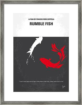 No073 My Rumble Fish Minimal Movie Poster Framed Print
