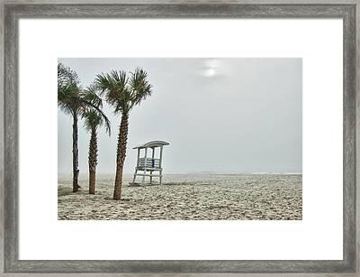 No.1 Foggy Beach Framed Print