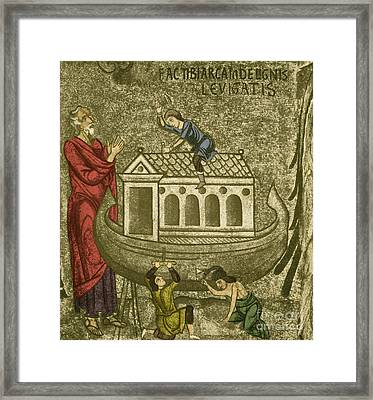 Noah Building The Ark Framed Print by Photo Researchers