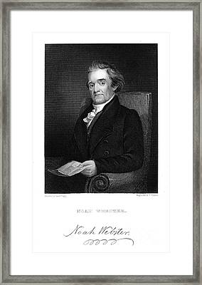 Noah Webster (1758-1843) Framed Print