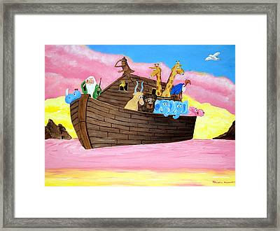 Framed Print featuring the painting Noah's Ark by Christie Minalga