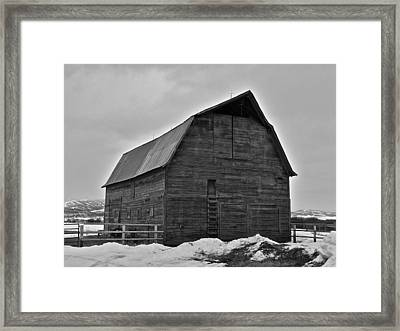 Framed Print featuring the photograph Noble Barn by Eric Tressler